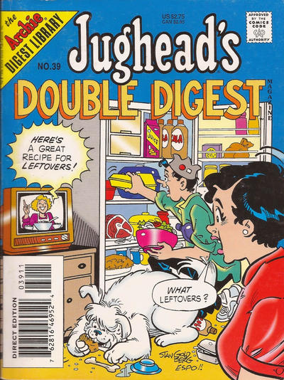 Cover for Jughead's Double Digest (Archie, 1989 series) #39