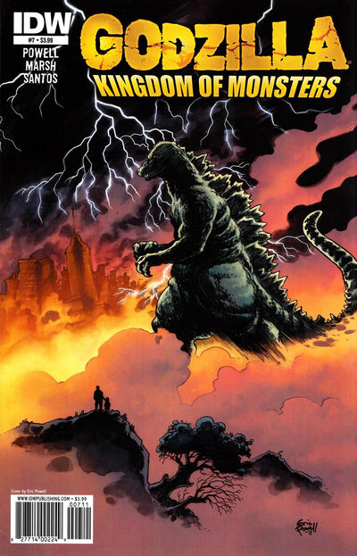 Cover for Godzilla: Kingdom of Monsters (IDW, 2011 series) #7 [Cover RI]
