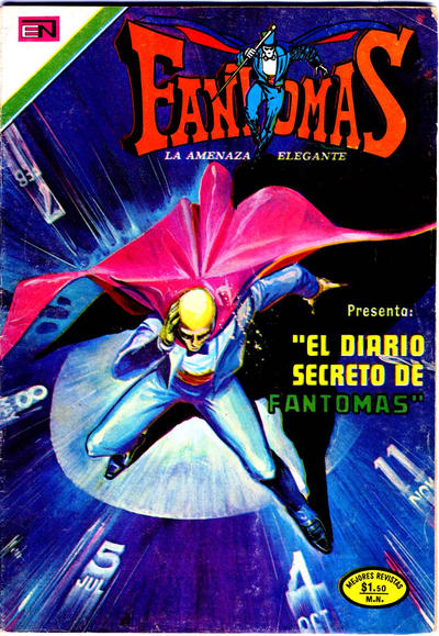 Cover for Fantomas (Editorial Novaro, 1969 series) #135