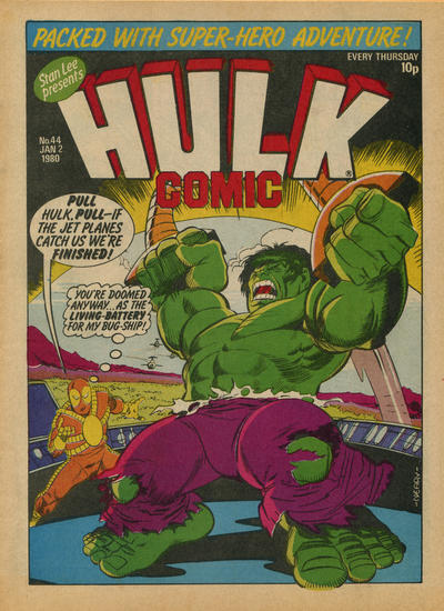 Cover for Hulk Comic (Marvel UK, 1979 series) #44