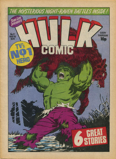 Cover for Hulk Comic (Marvel UK, 1979 series) #11