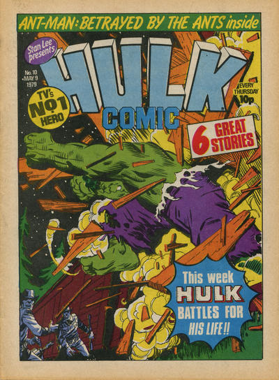 Cover for Hulk Comic (Marvel UK, 1979 series) #10