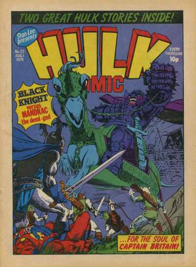Cover for Hulk Comic (Marvel UK, 1979 series) #22