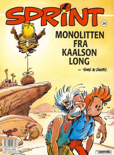 Cover for Sprint (Semic, 1986 series) #26 - Monolitten fra Kaalson Long [2. opplag]