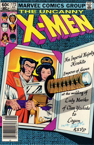 Cover for The Uncanny X-Men (Marvel, 1981 series) #172 [Direct Edition]