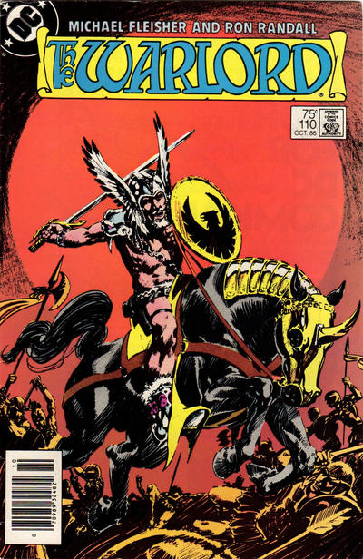 Cover for Warlord (1976 series) #110 [Newsstand Edition]