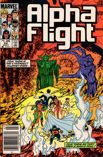 Cover for Alpha Flight (Marvel, 1983 series) #24 [Newsstand Edition]