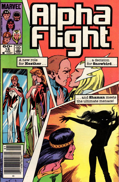 Cover for Alpha Flight (Marvel, 1983 series) #18 [Newsstand Edition]