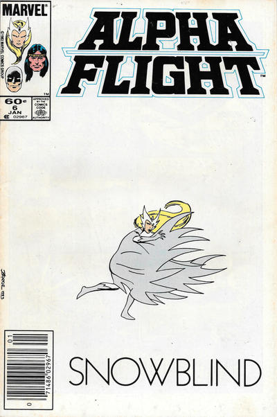 Cover for Alpha Flight (1983 series) #6 [Newsstand Edition]