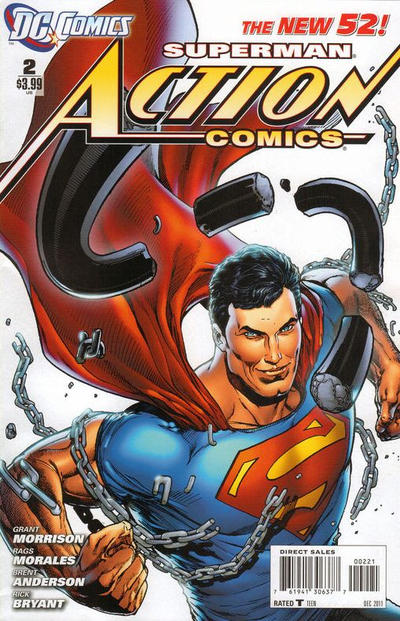 Cover for Action Comics (2011 series) #2 [1:200 Incentive Cover Edition]