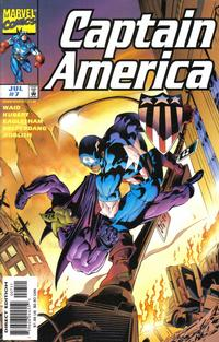 Cover Thumbnail for Captain America (Marvel, 1998 series) #7 [Direct Edition]
