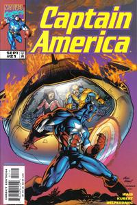 Cover Thumbnail for Captain America (Marvel, 1998 series) #21 [Direct Edition]