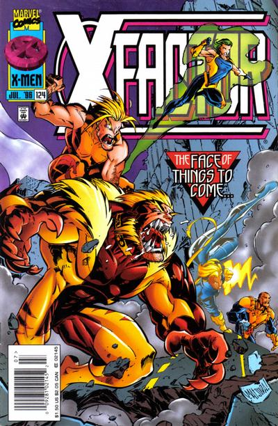 Cover for X-Factor (Marvel, 1986 series) #124 [Newsstand Edition]