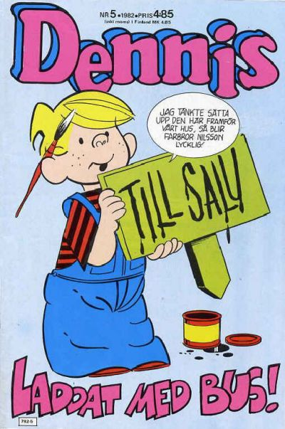 Cover for Dennis (Semic, 1969 series) #5/1982