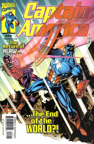 Cover for Captain America (Marvel, 1998 series) #22 [Direct Edition]