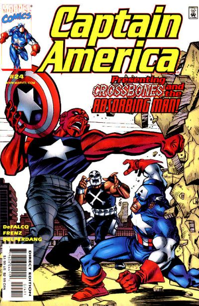 Cover for Captain America (Marvel, 1998 series) #24 [Direct Edition]