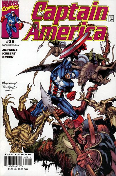 Cover for Captain America (Marvel, 1998 series) #28 [Direct Edition]