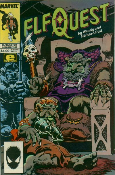 Cover for ElfQuest (Marvel, 1985 series) #27