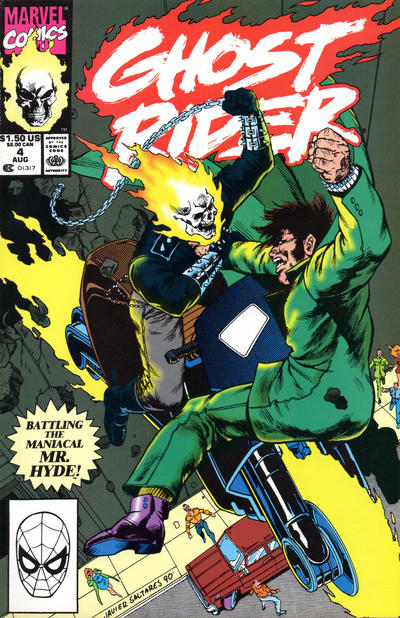 Cover for Ghost Rider (Marvel, 1990 series) #4 [Direct Edition]