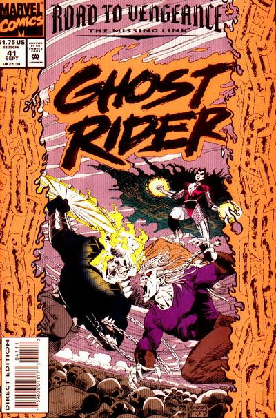 Cover for Ghost Rider (Marvel, 1990 series) #41 [Direct Edition]