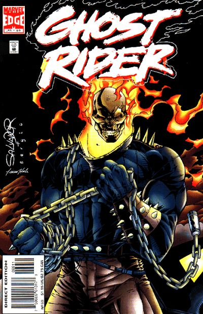 Cover for Ghost Rider (Marvel, 1990 series) #69 [Direct Edition]