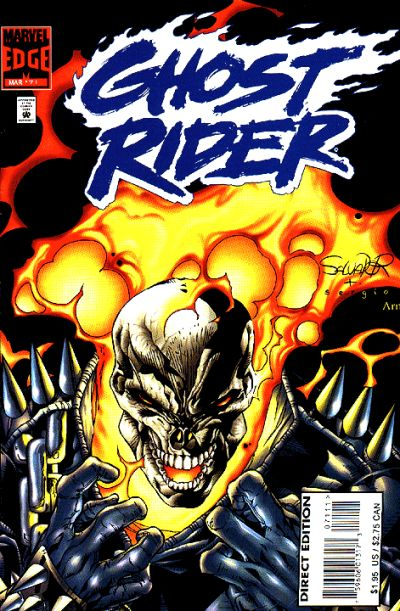 Cover for Ghost Rider (Marvel, 1990 series) #71 [Direct Edition]