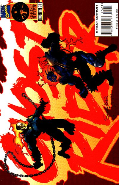Cover for Ghost Rider (Marvel, 1990 series) #76 [Direct Edition]