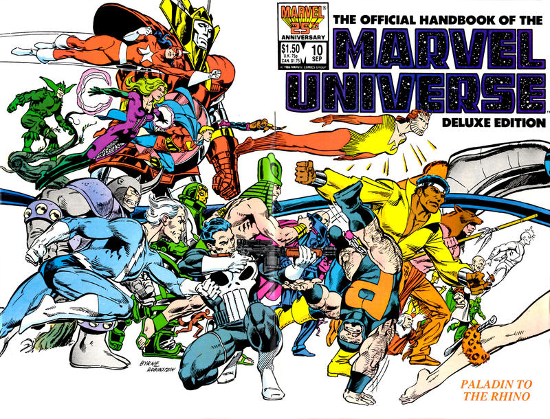 Cover for The Official Handbook of the Marvel Universe (Marvel, 1985 series) #10