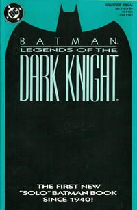 Cover Thumbnail for Legends of the Dark Knight (DC, 1989 series) #1 [Blue cover]