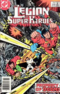 Cover for The Legion of Super-Heroes (DC, 1980 series) #308 [Newsstand Edition]
