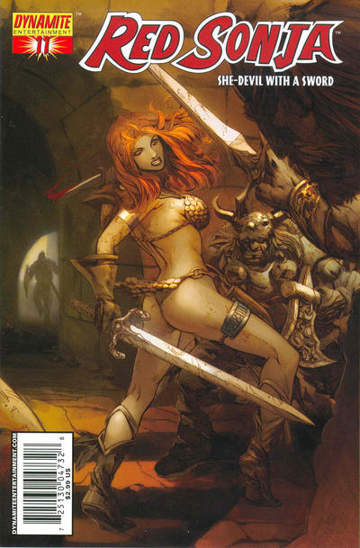 Cover for Red Sonja (Dynamite Entertainment, 2005 series) #11 [Randy Queen Cover]
