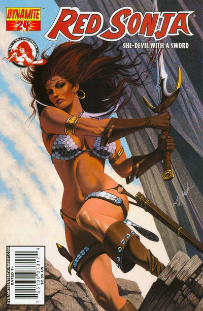 Cover for Red Sonja (Dynamite Entertainment, 2005 series) #24 [Stephen Segovia Cover]