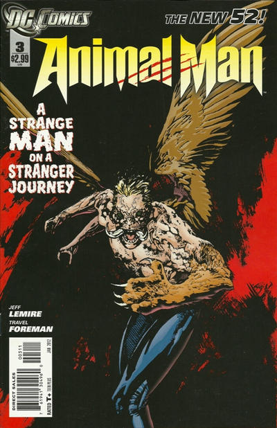 Cover for Animal Man (DC, 2011 series) #3