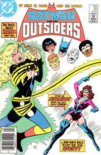 Cover Thumbnail for Batman and the Outsiders (DC, 1983 series) #20 [Newsstand]