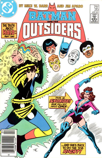 Cover for Batman and the Outsiders (1983 series) #20 [Newsstand]