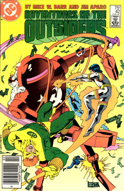 Cover for Adventures of the Outsiders (DC, 1986 series) #42 [Newsstand Edition]