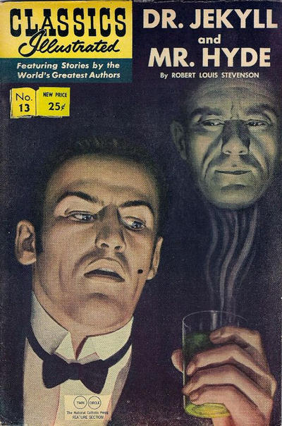 Cover for Classics Illustrated (1947 series) #13 [HRN 166] - Dr. Jekyll and Mr. Hyde [25 cent cover price]