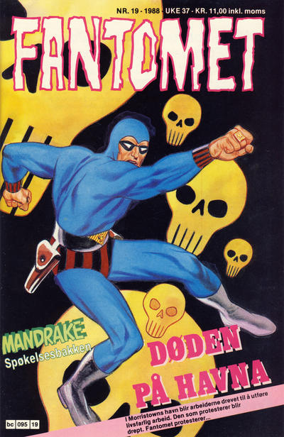 Cover for Fantomet (Semic, 1976 series) #19/1988