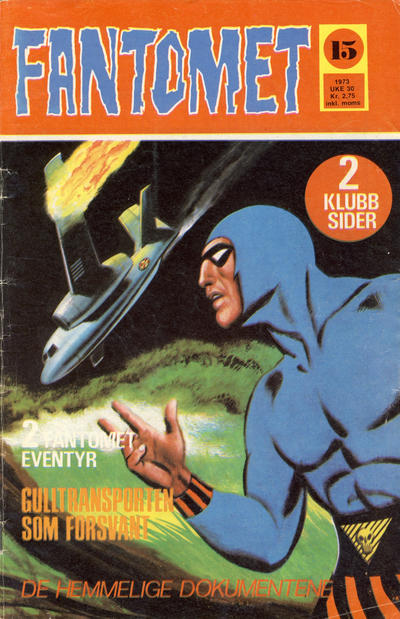 Cover for Fantomet (Nordisk Forlag, 1973 series) #15/1973