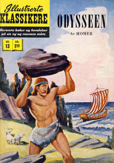 Cover for Illustrerte Klassikere [Classics Illustrated] (Illustrerte Klassikere, 1957 series) #13 - Odysseen