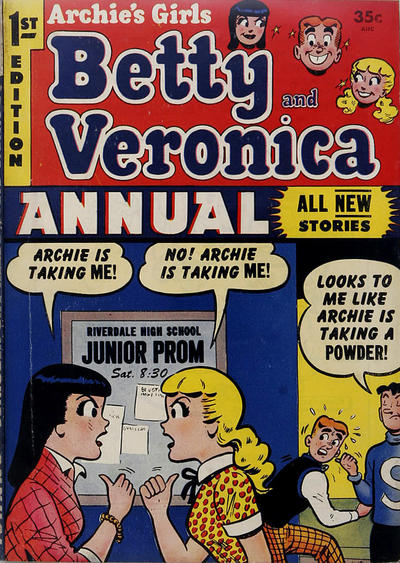 Cover for Archie's Girls, Betty and Veronica Annual (Archie, 1953 series) #1
