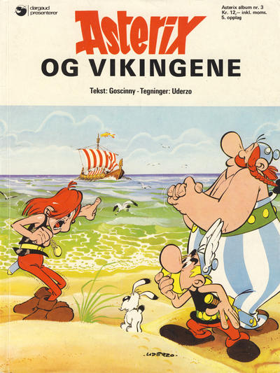 Cover for Asterix (1969 series) #3 - Asterix og vikingene [10. opplag]