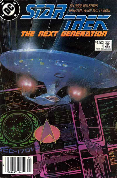 Cover for Star Trek: The Next Generation (DC, 1988 series) #1 [Direct]