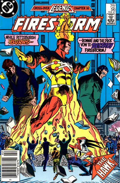 Cover for The Fury of Firestorm (DC, 1982 series) #56 [Newsstand Edition]