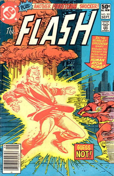 Cover for The Flash (DC, 1959 series) #301 [Newsstand Edition]