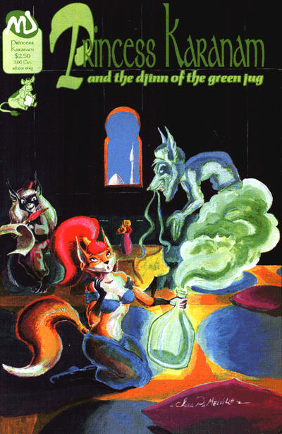 Cover for Princess Karanam and the Djinn of the Green Jug (MU Press, 1993 series)