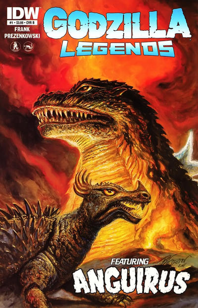 Cover for Godzilla Legends (IDW, 2011 series) #1 [Cover B]