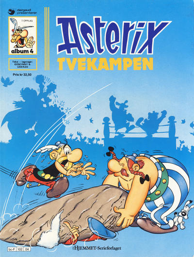Cover for Asterix (1969 series) #4 - Tvekampen [4. opplag]