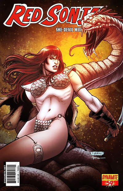 Cover for Red Sonja (Dynamite Entertainment, 2005 series) #59 [Cover A Fabiano Neves]