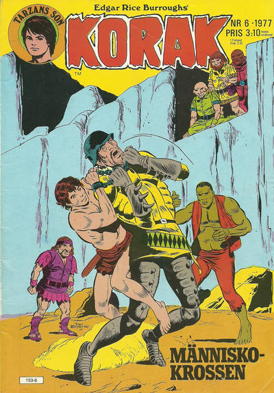 Cover for Korak (Atlantic Förlags AB, 1977 series) #6/1977
